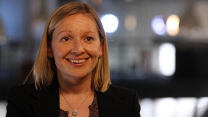 Irish Europe Minister Lucinda Creighton speaks during an interview with Reuters in Berlin, May 12, 2011. REUTERS/Tobias Schwarz