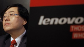 Lenovo Chairman and Chief Executive Officer Yang Yuanqing attends a news conference on the company's annual results in Hong Kong May 23, 2013. REUTERS/Bobby Yip