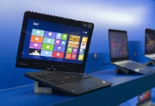 A convertible Lenovo Ultrabook is displayed during the Consumer Electronics Show (CES) in Las Vegas January 7, 2013.  REUTERS/Steve Marcus  
