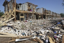 The site of the fire and explosion of April 17, 2013 is pictured in West, Texas on  April 24 2013.   REUTERS/Tom Reel/Pool
