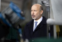 Lloyd Blankfein, Chairman and CEO, Goldman Sachs Group, speaks with the media after meeting with U.S. President Barack Obama and other CEOs at the White House in Washington February 5, 2013. REUTERS/Joshua Roberts