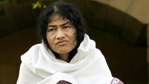 Irom Sharmila Chanu, 34, reacts during an interview with Reuters in New Delhi October 4, 2006. REUTERS/Vijay Mathur/Files