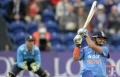 Suresh Raina hits out during the second one-day international cricket match at the SWALEC stadium in Cardiff August 27, 2014. REUTERS/Philip Brown