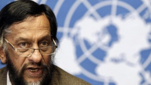 Rajendra Pachauri, Chair of the Intergovernmental Panel on Climate Change (IPCC), briefs the media at the United Nations European headquarters in Geneva June 7, 2012. REUTERS/Denis Balibouse/Files