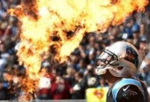 Nov 22, 2015; Charlotte, NC, USA; Carolina Panthers quarterback Cam Newton (1) during player introductions prior to the game against the Washington Redskins at Bank of America Stadium. Mandatory Credit: Bob Donnan-USA TODAY Sports      TPX IMAGES OF THE DAY
