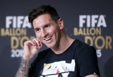 Nominee for the 2015 FIFA World Player of the Year FC Barcelona's Lionel Messi of Argentina attends a news conference prior to the Ballon d'Or 2015 awards ceremony in Zurich, Switzerland, January 11, 2016. REUTERS/Ruben Sprich/Files