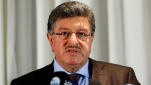 Salim al-Muslat, spokesman for the High Negotiations Committee (HNC), the main Syrian opposition group at the Geneva peace talks, attends a news conference in Geneva, Switzerland, January 31, 2016. REUTERS/Denis Balibouse/Files