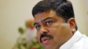 India's Oil Minister Dharmendra Pradhan speaks during an interview with Reuters in New Delhi, India, June 12, 2015.  REUTERS/Anindito Mukherjee/Files
