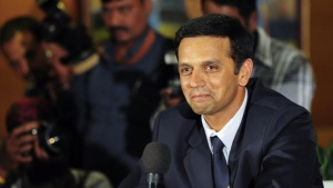 Rahul Dravid speaks to the media as he announces his retirement from international cricket at the Chinnaswamy Stadium in Bangalore March 9, 2012. REUTERS/Stringer/Files