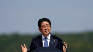 Japanese Prime Minister Shinzo Abe speaks during a news conference during the G7 Ise-Shima Summit in Shima, Japan, May 27, 2016. REUTERS/Issei Kato