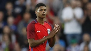 Britain Football Soccer - England v Australia - International Friendly - Stadium of Light, Sunderland - 27/5/16England's Marcus Rashford applauds fans as he is substituted off for Ross Barkley (not pictured) Action Images via Reuters / Lee Smith Livepic