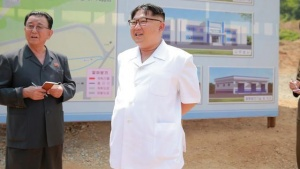 North Korean leader Kim Jong Un gives field guidance to the construction site of a medical oxygen factory in this undated photo released by North Korea's Korean Central News Agency (KCNA) on May 30, 2016. KCNA/ via Reuters