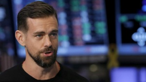 Jack Dorsey, CEO of Square and CEO of Twitter, speaks during an interview November 19, 2015.      REUTERS/Lucas Jackson/Files