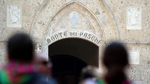 The entrance of Monte dei Paschi bank headquarters is pictured in downtown Siena, Italy July 2, 2016. REUTERS/Stefano Rellandini/Files