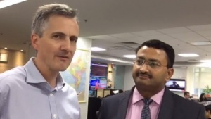 Bureau chief Doug Busvine with Pravin Agrawal of Deloitte on taxation and other budget highlights.