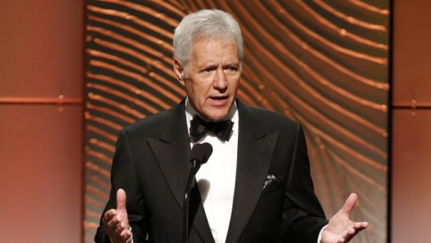 Jeopardy television game show host Alex Trebek speaks on stage during the 40th annual Daytime Emmy Awards in Beverly Hills, California June 16, 2013. REUTERS/Danny Moloshok