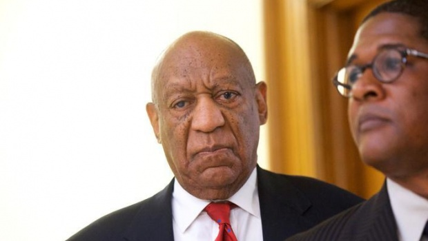 Bill Cosby reacts while being notified a verdict is in at the Montgomery County Courthouse in his sexual assault retrial, in Norristown, Pennsylvania, U.S., April 26, 2018. Mark Makela/Pool via Reuters