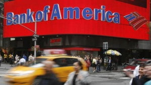 "A Bank of America branch is pictured in New York May 7, 2009. Lessons from government ""stress tests"" of the 19 largest U.S. banks could provide a guide to improvements in financial supervision and regulation, Federal Reserve Chairman Ben Bernanke said on Thursday. REUTERS/Shannon Stapleton (UNITED STATES BUSINESS)"