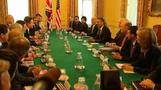 Obama begins talks with Cameron
