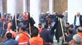Greek dockworkers clash with police