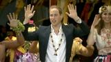 William and Kate take part in a Tuvalu tango