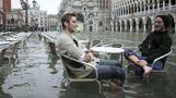 Wading through waist-deep water in Venice - Rough Cuts