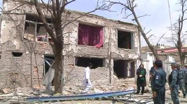 Residents clear up after Taliban attack