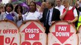 Strikes dent optimism over UK recovery