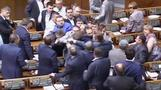 Brawl breaks out in Ukrainian parliament over downe