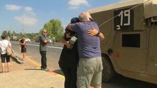 Israeli soldiers reunite briefly with families