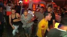 (GRAPHIC IMAGES) Panic on the streets of Gaza