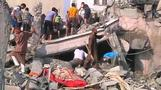 (GRAPHIC IMAGES) Israel pounds high-profile targets in Gaza