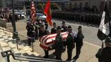 Mourners gather for funeral of Pennsylvania trooper killed in ambush