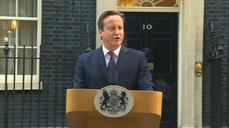 "Cameron ""delighted"" with Scottish independence vote"