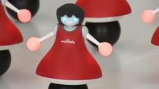Japanese company unveils robot cheerleaders