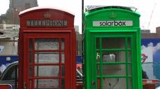 London phone box goes green as solar charging station