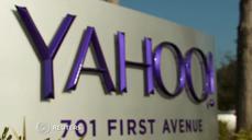 Yahoo earnings beat forecasts.