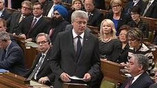 """We will not run scared"": Canada's Harper"