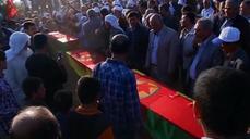 Funeral held for Kurdish fighters kil