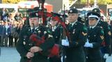 Canada's Harper attends ceremony at National War Memorial