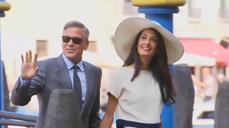Clooneys celebrate wedding for third time with UK bash