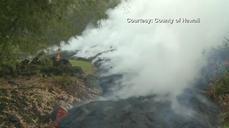 Kilauea lava inches toward residential area