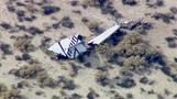 Virgin Galactic spaceship crashes during Ca