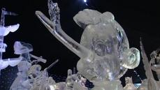 Belgian artists sculpt Disney on ice