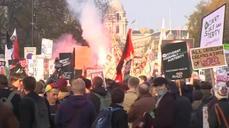 Scuffles break out as students protest in central London