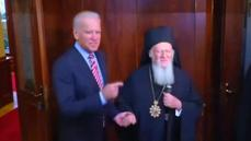 """This is a really fine man"" Biden on Orthodox patriarch in Istanbul"