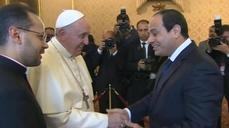 Pope meets Egyptian President Sisi at Vatican