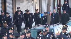 Police officers from across the nation arrive at Queens church for NYPD funeral