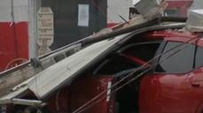 Tornado-like winds may have damaged Texas autoshops