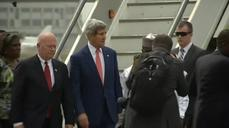 Kerry arrives in Nigeria for talks